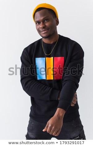 rapper · portret · muur · man · mode · graffiti - stockfoto © luminastock