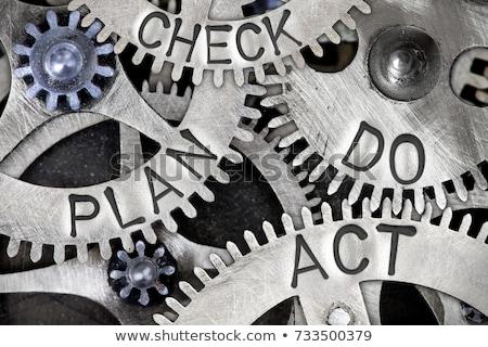 plan do check act cycle in gears stock photo © marinini