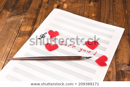 Music note book with red heart  Stock photo © Grazvydas
