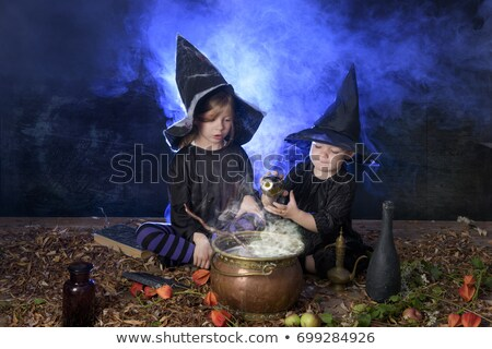Witch making potion Stock photo © carbouval