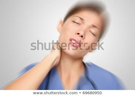 Maakt · een · reservekopie · massage · vrouwelijke · patiënt · hand - stockfoto © stepstock