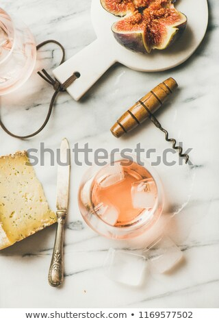 Sliced figs in ice cube Stock photo © Givaga