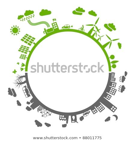 dode · aarde · water · globale · ecologisch · catastrofe - stockfoto © tolokonov