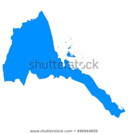 карта Эритрея Мир завода стране тень Сток-фото © michaklootwijk