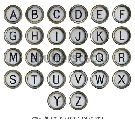 vintage typewriter caps key Stock photo © Giulio_Fornasar