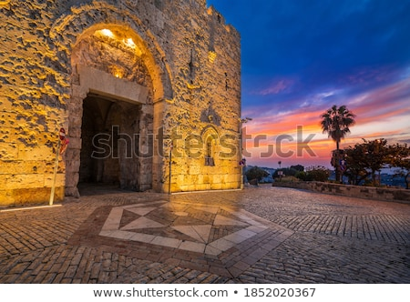 eski · sokak · Kudüs · İsrail · dikey · görüntü - stok fotoğraf © andreykr