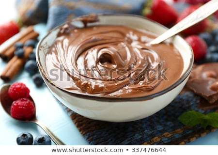 chocolate cream and berry stock photo © m-studio