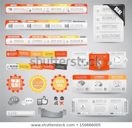 Foto stock: Qualidade · limpar · teia · elementos · blog · ícones