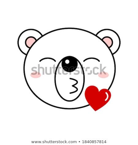 hart · gezichten · gelukkig · cartoon · illustratie - stockfoto © nazlisart