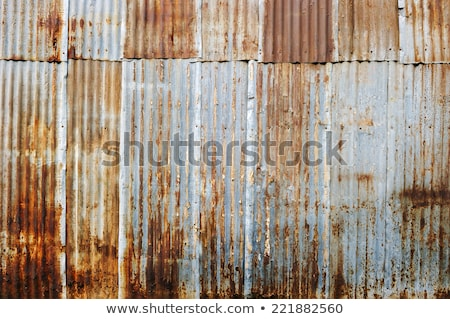Pattern Painted Corrugated Iron Stock photo © rghenry