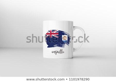 Anguilla flag souvenir mug on white background. Stock photo © tkacchuk