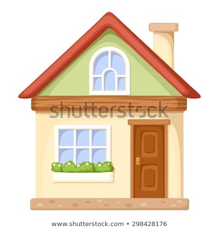 Casa Cartoon iconos cuatro diferente casas Foto stock © petovarga