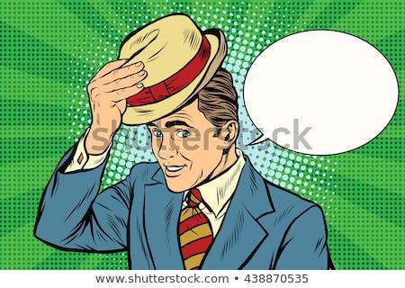 帽子を上げる男 ストックフォト © studiostoks