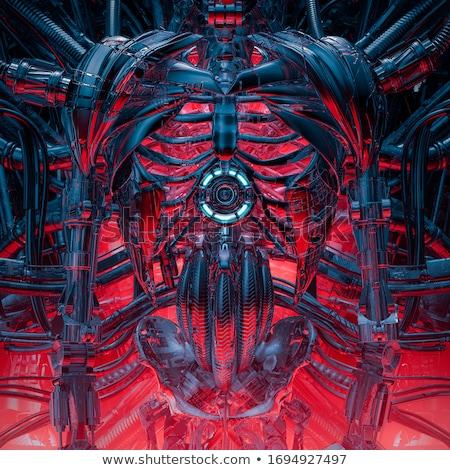 scifi · vreemdeling · robot · 3D · gerenderd · witte - stockfoto © Wampa