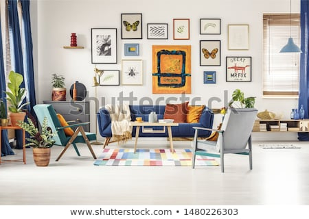 Poster opknoping kunstgalerie muur papier maat Stockfoto © stevanovicigor