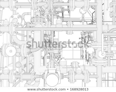 産業 3dのレンダリング ベクトル フォーマット ストックフォト © cherezoff