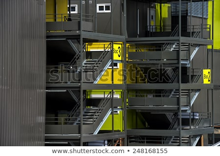 colorful cargo containers used as houses Stock photo © Hofmeester