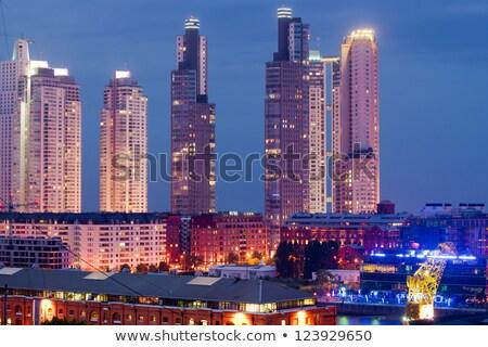 felhőkarcolók · Buenos · Aires · Argentína · épület · utazás · városi - stock fotó © elxeneize