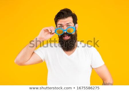 vent · snor · portret · man · zakenman - stockfoto © filipw