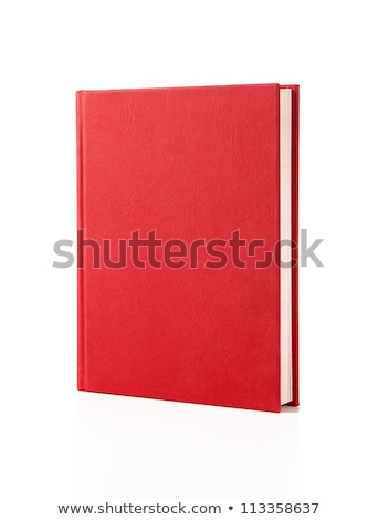 New red hardcover book with blank cover Stock photo © stevanovicigor