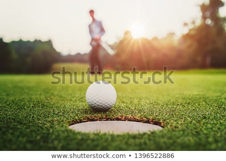 female golfer on golf course putting on green stock photo © monkey_business