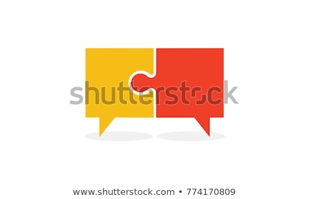 talk balloon icon in puzzle Stock photo © Istanbul2009
