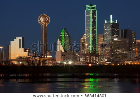 Dallas skyline nacht west Stockfoto © dgilder
