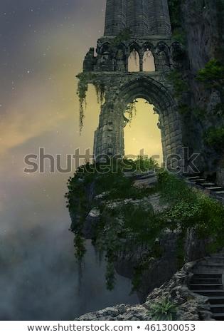 古代 · 城 · 空 · 家 · 建物 · 建設 - ストックフォト © kayco
