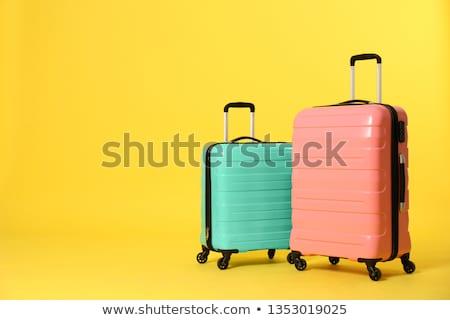 чемодан 3D генерируется фотография белый полу Сток-фото © flipfine