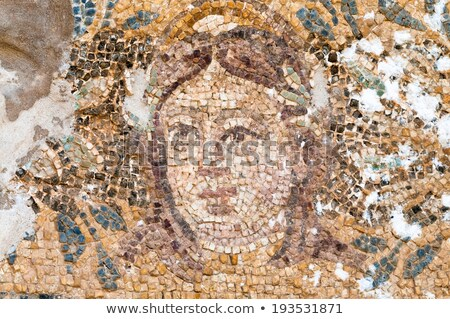 mosaic of hades at the roman baths in salamis cyprus stock photo © kirill_m