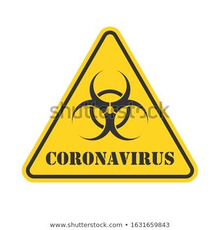 Citromsárga bioveszély figyelmeztető jel részletes illusztráció eps10 Stock fotó © unkreatives