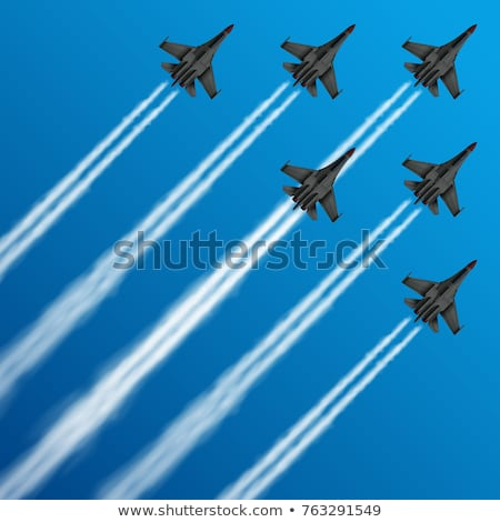Air force team. Vector illustration Stock photo © leonido