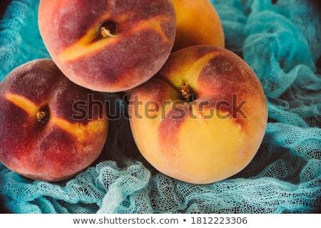 three tasty fresh ripe juicy nectarines stock photo © juniart