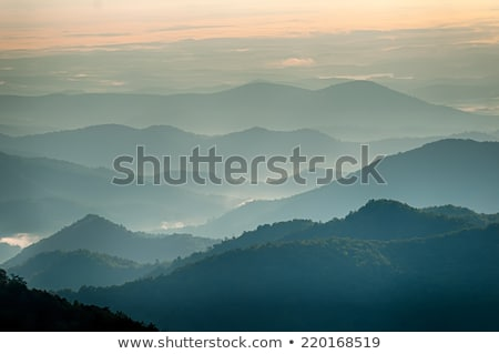 The simple layers of the Smokies at sunset - Smoky Mountain Nat. Stock photo © alex_grichenko