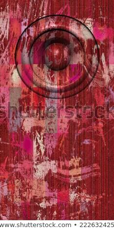 3d render grunge rózsaszín piros öreg hangszóró Stock fotó © Melvin07