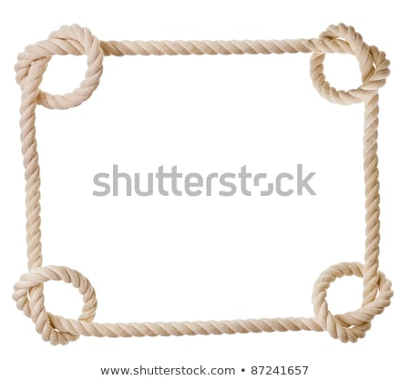 Frame made out of rope isolated on a white background Stock photo © gemenacom