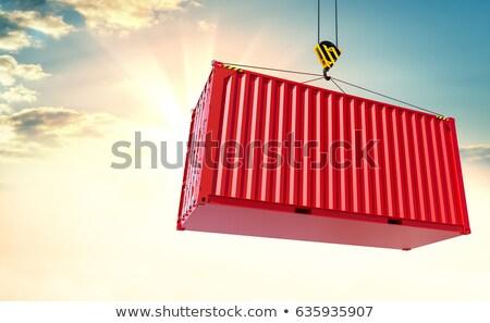 ストックフォト: 貨物 · 空 · 送料 · 赤 · 倉庫 · 配信