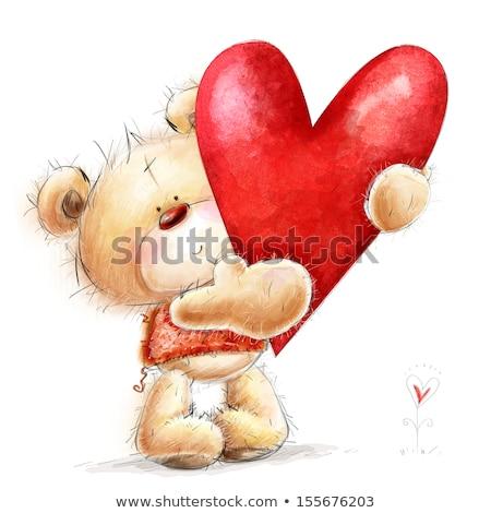 Sketch cute Valentine card Stock photo © kali