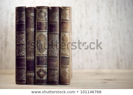Vintage boeken rij retro leren document Stockfoto © Nejron