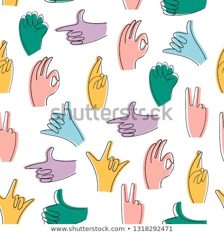 cartoon okay hand gesture Stock photo © lineartestpilot