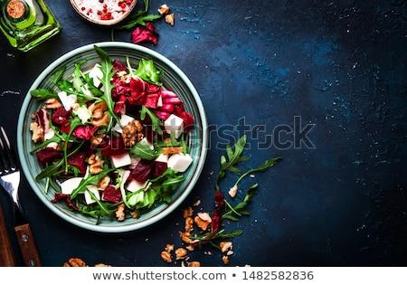 Salada queijo feta tigela comida verde Foto stock © zoryanchik