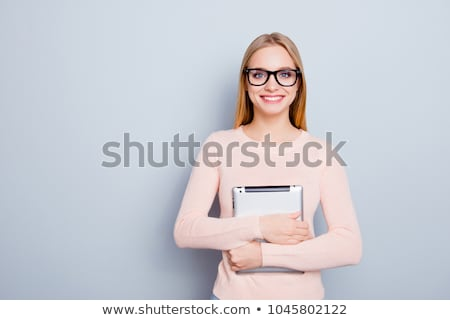 Portrait jeunes femme d'affaires pda portable ordinateur Photo stock © ambro