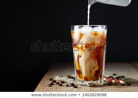 kahve · sıçrama · kahve · çekirdekleri · uçan · dışarı · karanlık - stok fotoğraf © mady70
