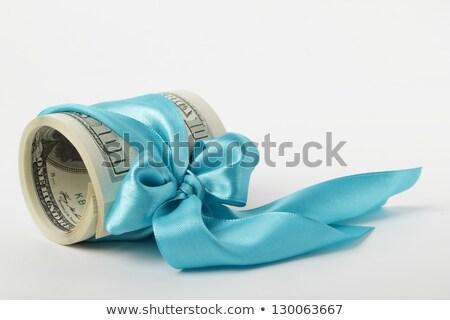 Amerykański dolarów wstążka niebieski tle finansów Zdjęcia stock © Valeriy