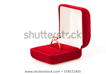 open box with wedding gold expensive rings Stock photo © mikhail_ulyannik