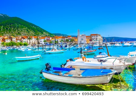 port at the sea in croatia vis island stock photo © nneirda