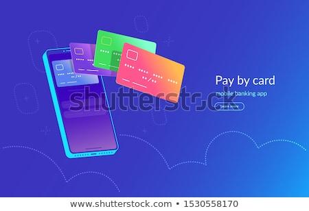 Credits Button with Glowing Blue Lights. Stock photo © tashatuvango