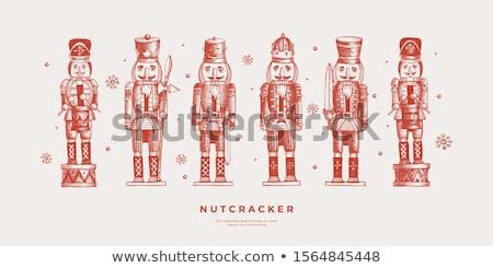 Set of christmas nutcracker Stock photo © ElaK