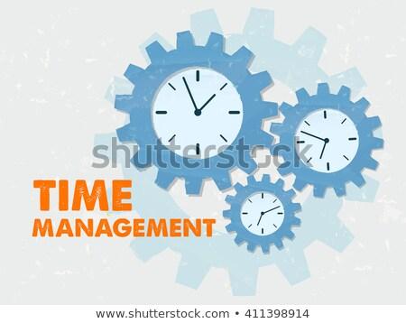 hamar · idő · órák · osztályzat · kezek · munka - stock fotó © marinini