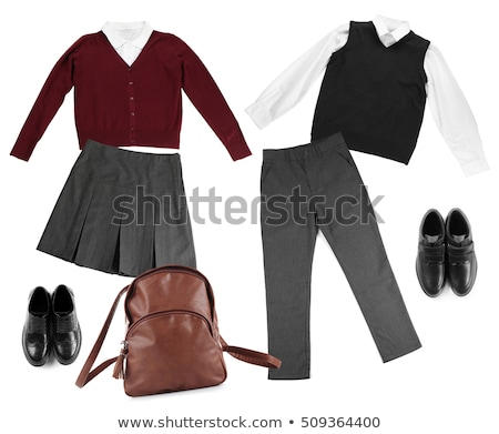 Girl in classic male suit isolated on white Stock photo © Elnur